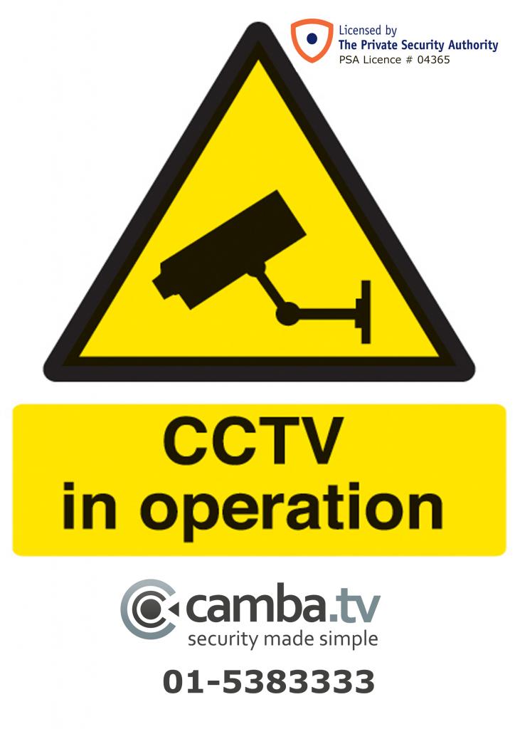 CCTV Poster Sticker